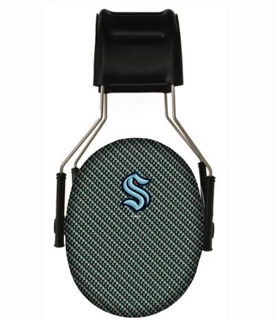 Officially Licensed Seattle Kraken Carbon Fiber 3M Hearing Protection Earmuffs