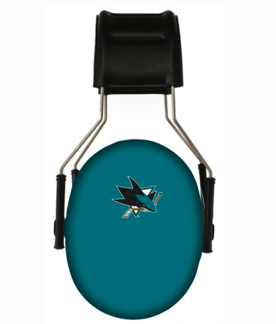 Officially Licensed San Jose Sharks 3M Hearing Protection Earmuffs