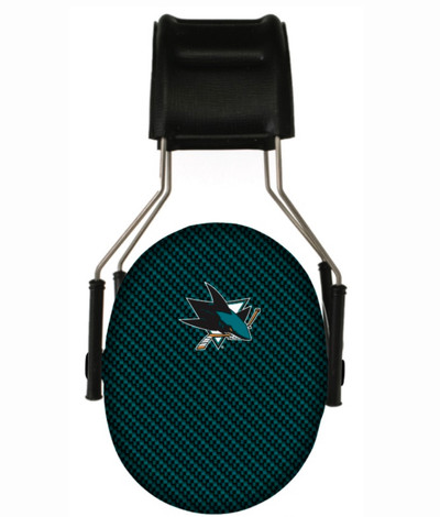 Officially Licensed San Jose Sharks Carbon Fiber 3M Hearing Protection Earmuffs