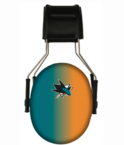 Officially Licensed San Jose Sharks Gradient 3M Hearing Protection Earmuffs