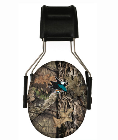 Officially Licensed San Jose Sharks Mossy Oak Camouflage 3M Hearing Protection Earmuffs