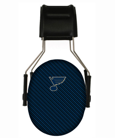 Officially Licensed St. Louis Blues Carbon Fiber 3M Youth Hearing Protection Earmuffs