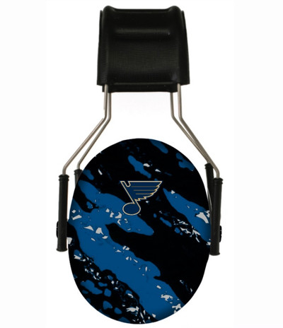 Officially Licensed St. Louis Blues Splash 3M Hearing Protection Earmuffs