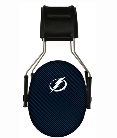 Officially Licensed Tampa Bay Lightning Carbon Fiber 3M Hearing Protection Earmuffs
