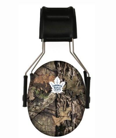 Officially Licensed Toronto Maple Leafs Mossy Oak Camouflage 3M Hearing Protection Earmuffs