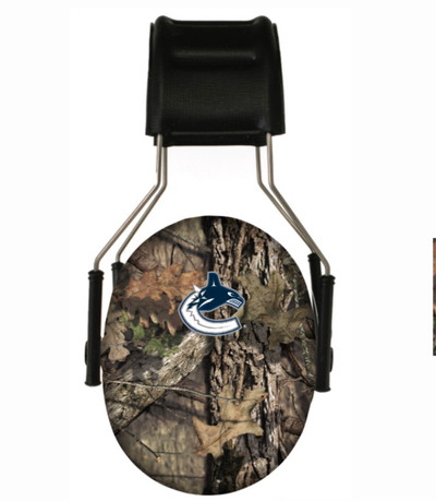 Officially Licensed Vancouver Canucks Mossy Oak Camouflage 3M Hearing Protection Earmuffs