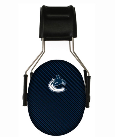 Officially Licensed Vancouver Canucks Carbon Fiber 3M Hearing Protection Earmuffs