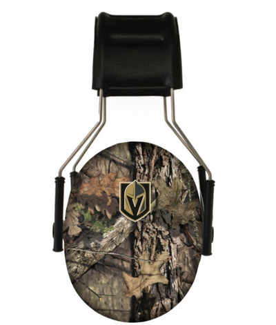 Officially Licensed Vegas Golden Knights Mossy Oak Camouflage 3M Hearing Protection Earmuffs