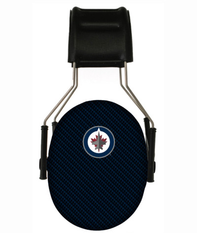 Officially Licensed Winnipeg Jets Carbon Fiber 3M Hearing Protection Earmuffs