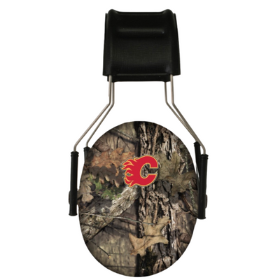 Officially Licensed Calgary Flames Mossy Oak Camouflage 3M Hearing Protection Earmuffs