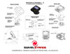 Verifone MX to Ingenico iSC250 Low Profile Conversion Kit by Swivel Stands