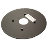 Plate with Rubber Pad 7 inch Diameter for SQUARE Swivel Base