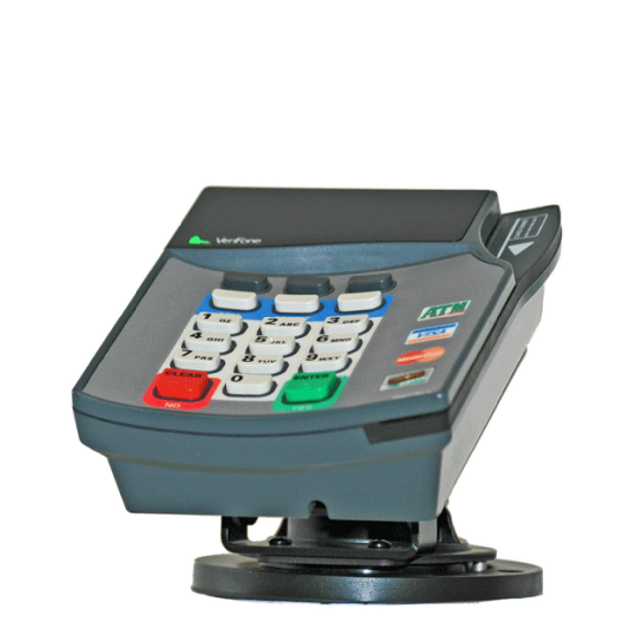 Verifone Omni 7000 Credit Card Stand Quick Release  by Swivel Stands