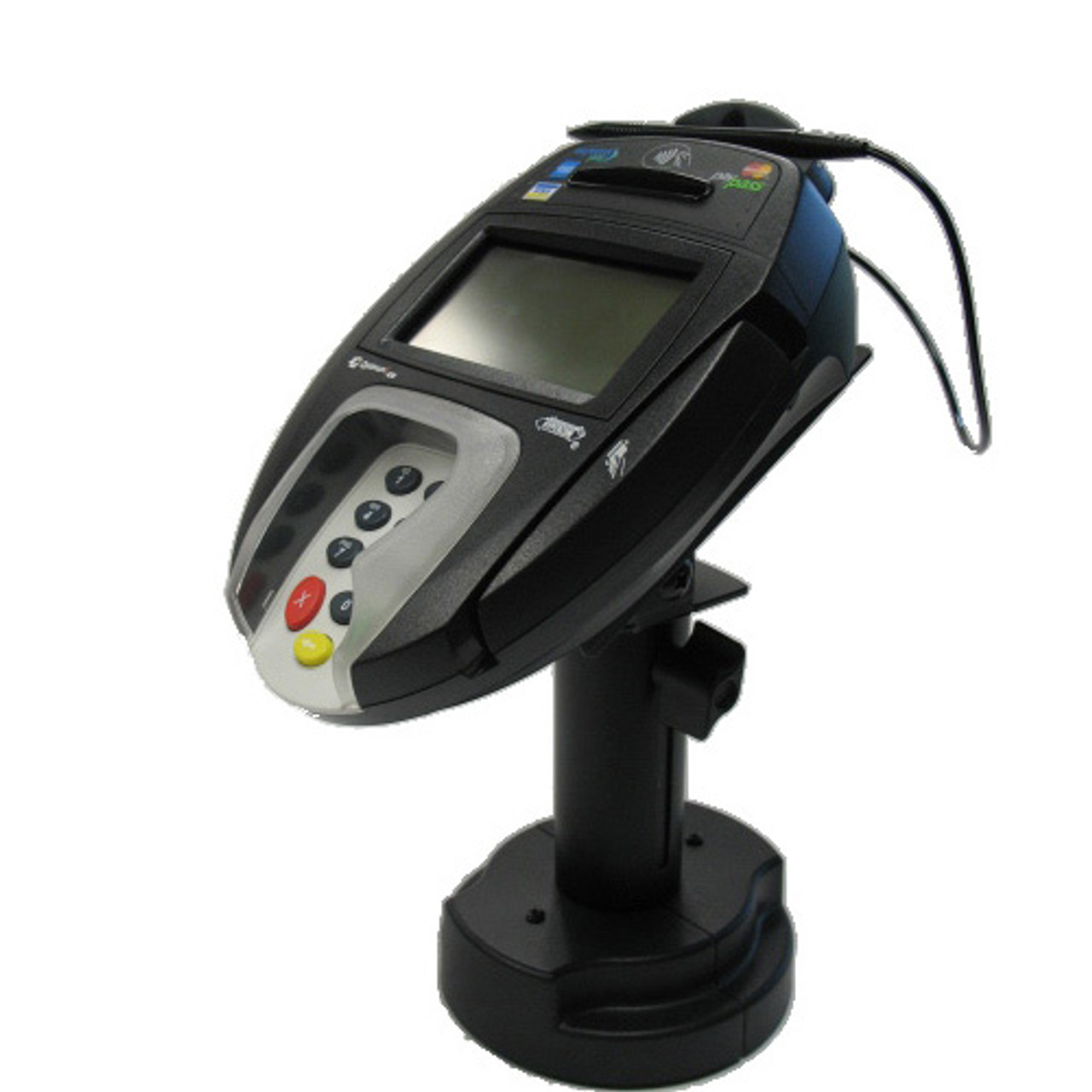 Verifone MX860 Credit Card Stand Telescoping Pedestal Quick Release by Swivel Stands
