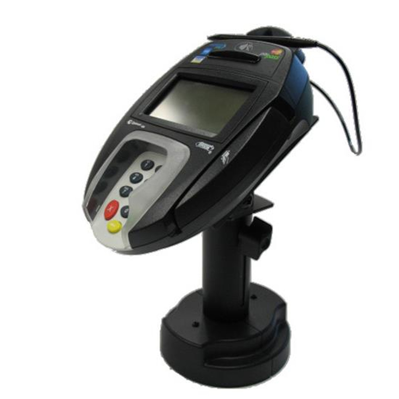 VeriFone MX880 Credit Card Stand Telescoping Pedestal Quick Release by Swivel Stands