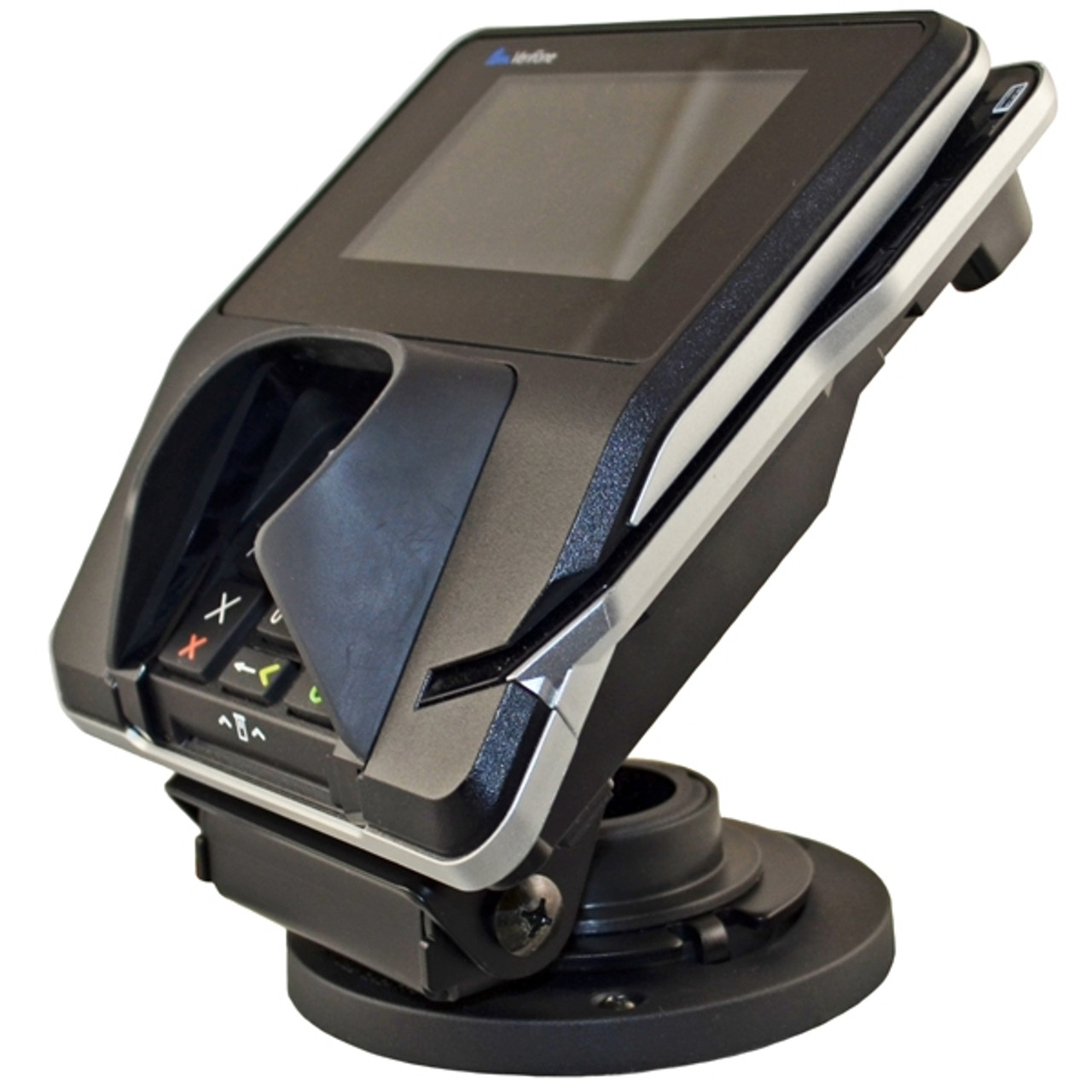 VeriFone MX915 Credit Card Stand Open Hole Flip Up by Swivel Stands