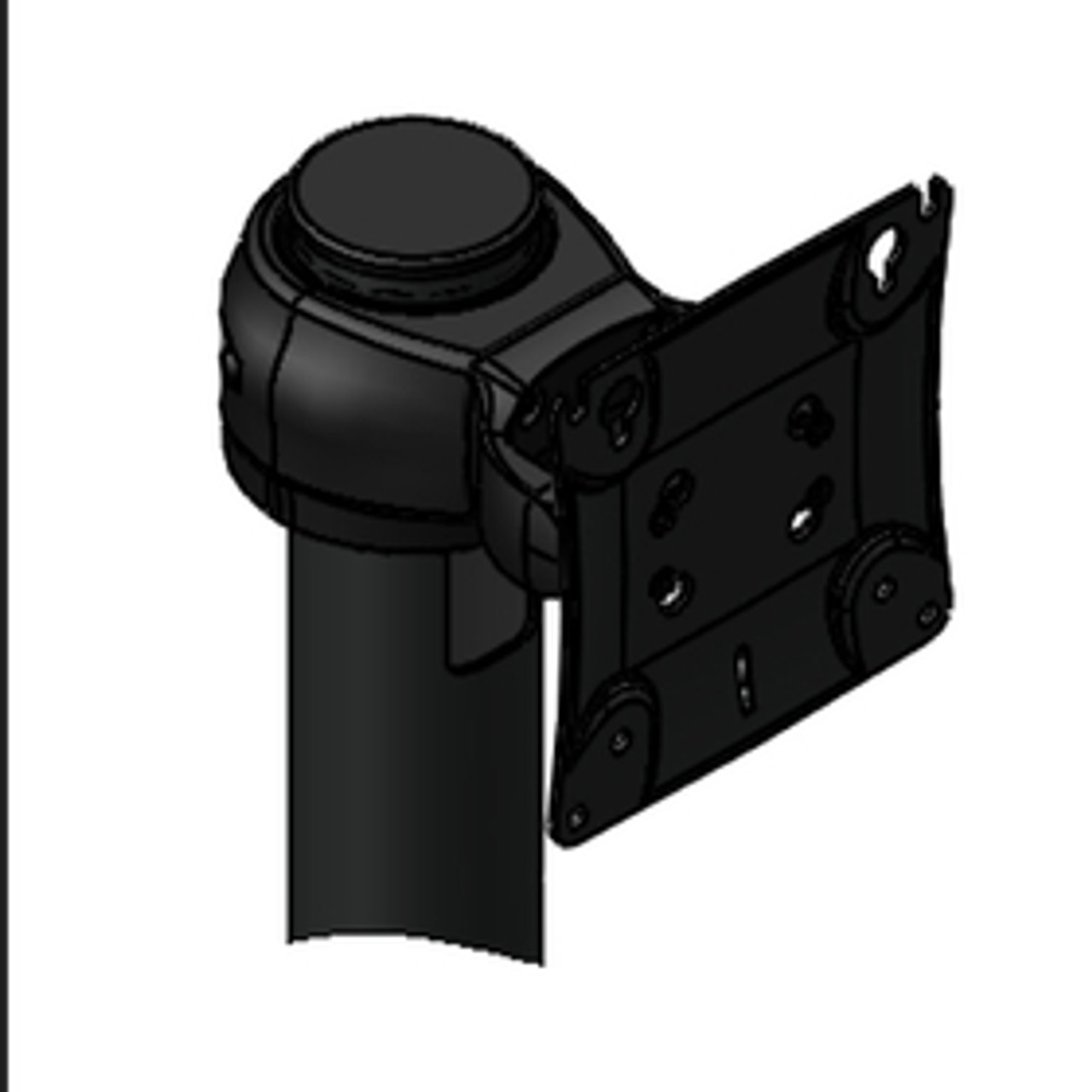 POS Monitor Pivot Single Genesis Pivot (up/down) for 1 Device VESA Rotating Pole Clamp included