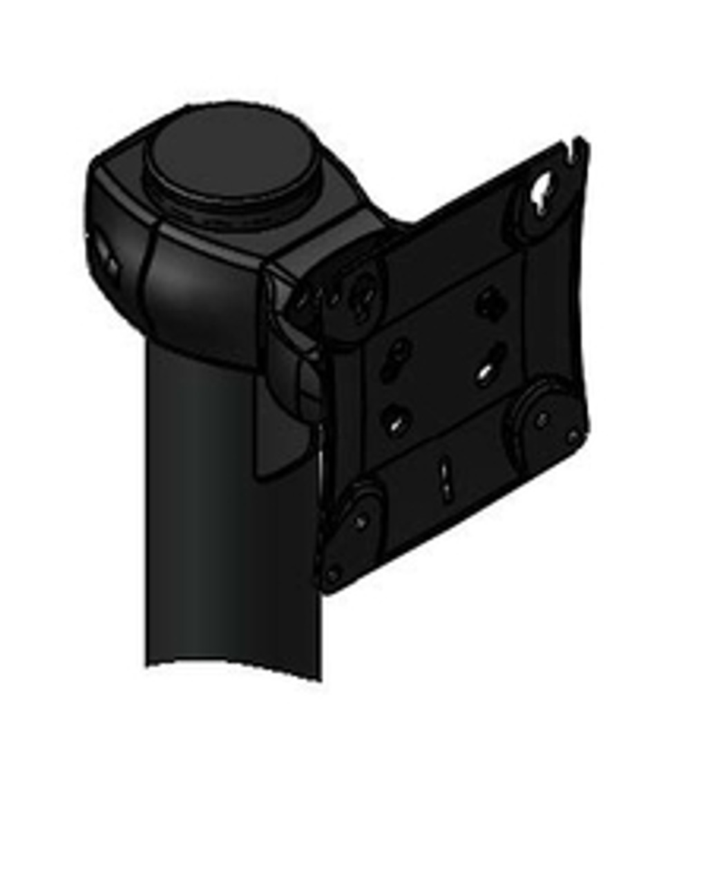 POS Monitor Pivot Single Genesis Pivot up down for 1 Device VESA Fixed Pole Clamp Included