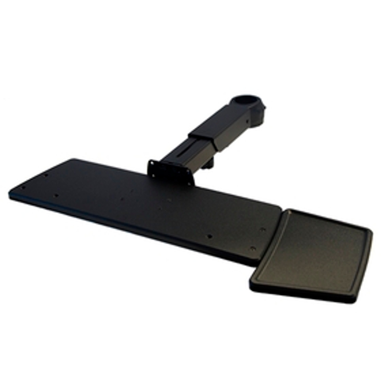 POS Keyboard Tray with Mouse Tray Telescoping Arm Rotating Clamp
