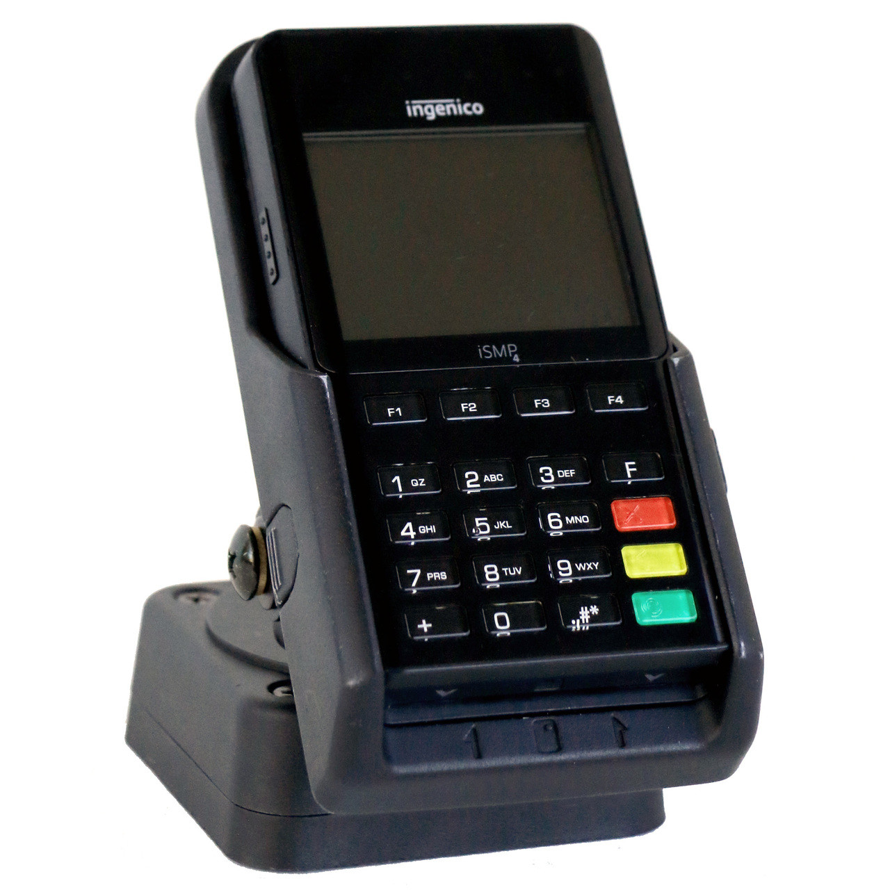 The Verge iSMP4 Square Base Charging Stand for Ingenico iSMP4 Companion.
