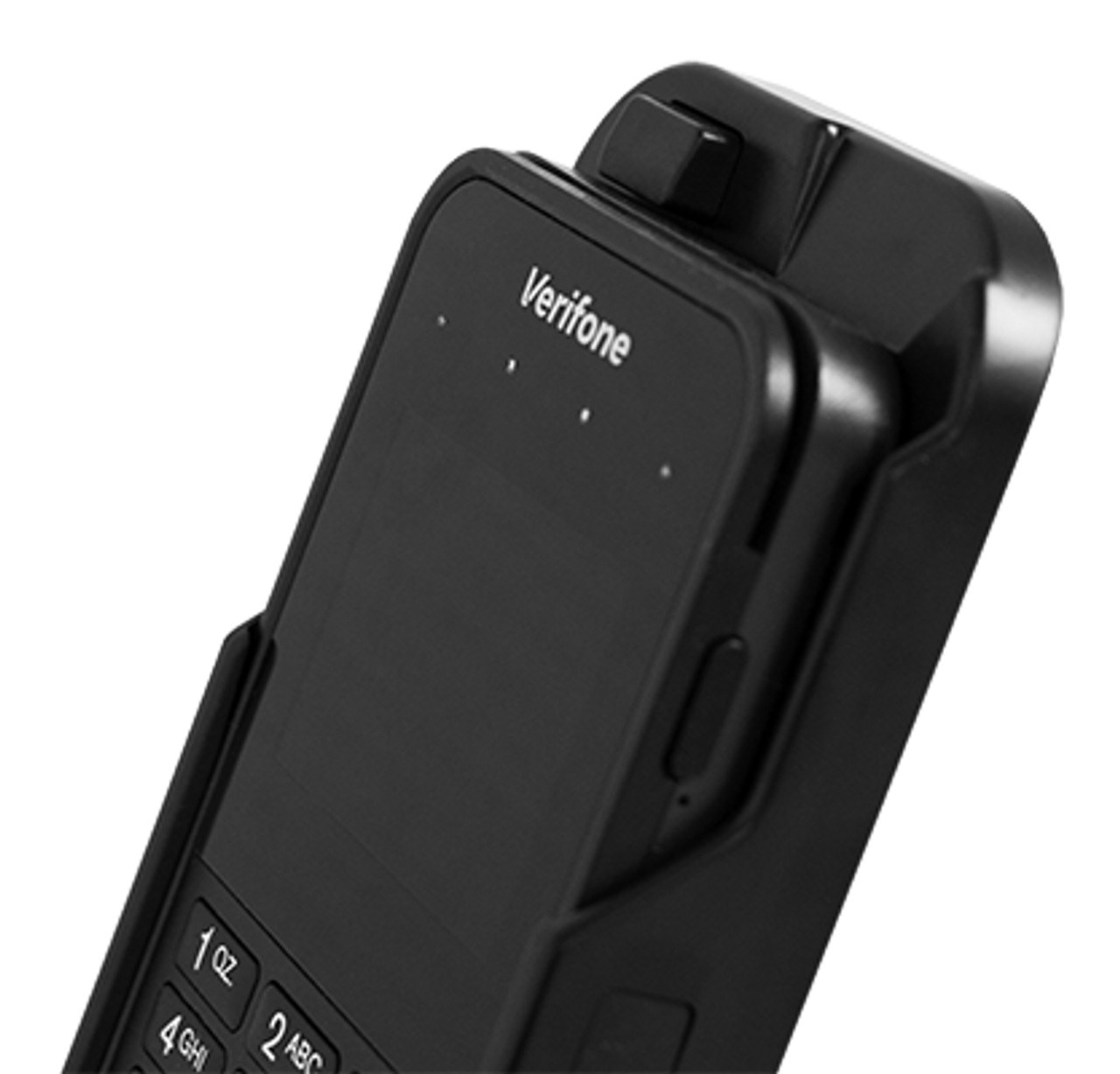 The Verge E355 Square Base Non-Charging Stand for Verifone E355 provides security as well as mobility.