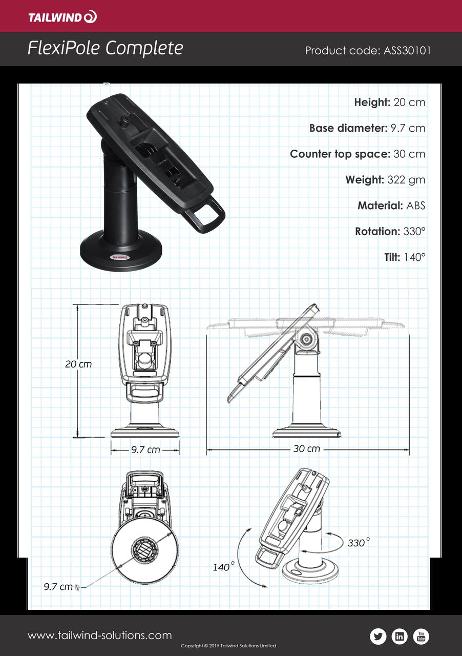 Ingenico iPP310 iPP320 iPP350 FlexiPole FirstBase Complete Stand