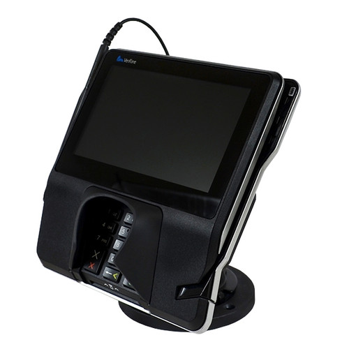VeriFone MX915 Credit Card Stand Locking Open Hole Flip Up