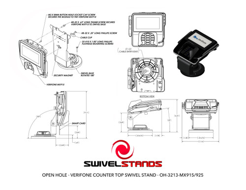 Low Contour Swivel Stand 367-3213-A Verifone ROHS Compliant smart card clearnce