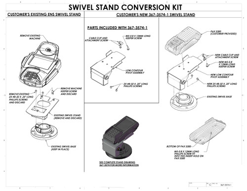 PAX S300 Conversion Kit Low Profile by Swivel Stands