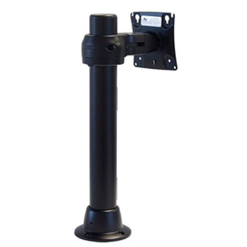 Preconfigured Grommet Mount Base 16 inch Pole, Flat Panel Monitor Mount Rotating Pole Clamp