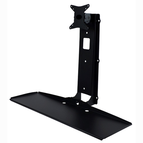 POS Wall Mount for Flat Panel Monitor and Keyboard Tray