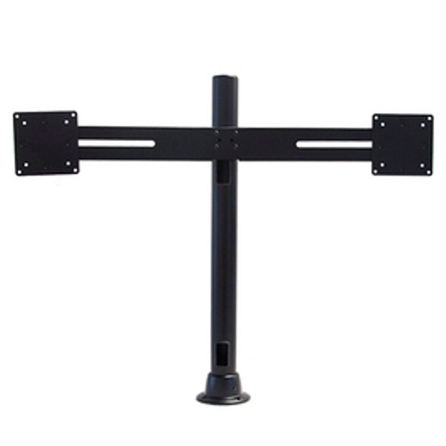POS Dual Side By Side Monitor Mount With 24 inch Pole