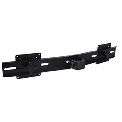 POS Dual Monitor Bar Two Flat Panel Monitor Mounts Pole Clamp