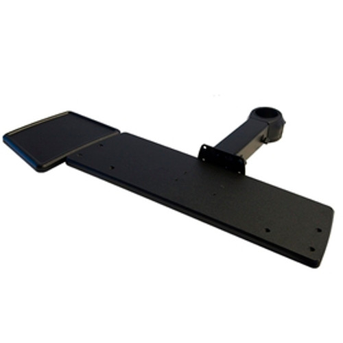 POS Keyboard Tray with Mouse Tray Fixed Length Arm Rotating Clamp