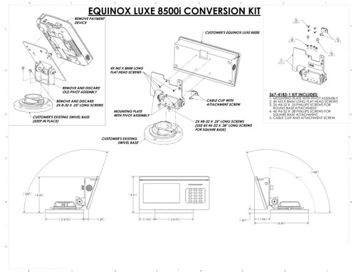 Equinox LUXE 8500i Conversion Kit