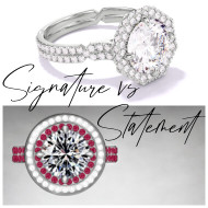 Signature vs Statement Engagement Rings: Chance Collection