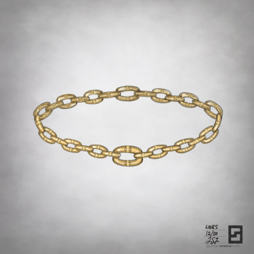 magnetic link bracelet in 18 karat gold with engraves stripes