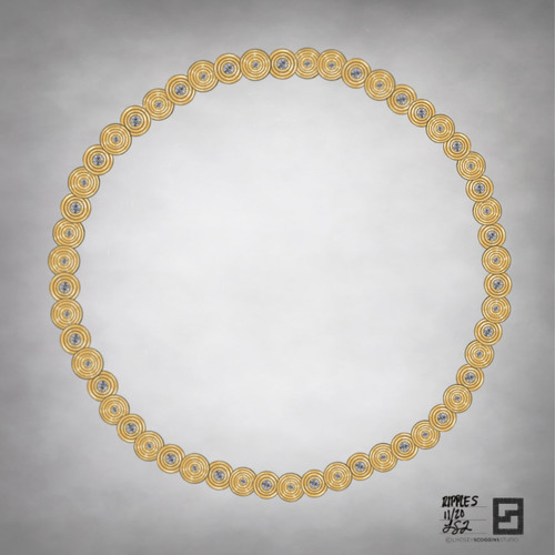ripple effect diamond link necklace in 18 karat gold