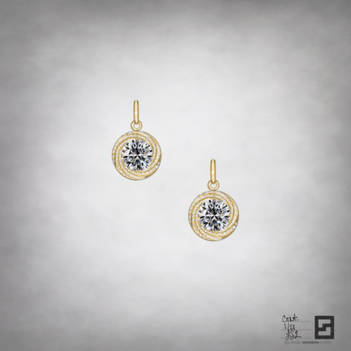continuum diamond drop earrings