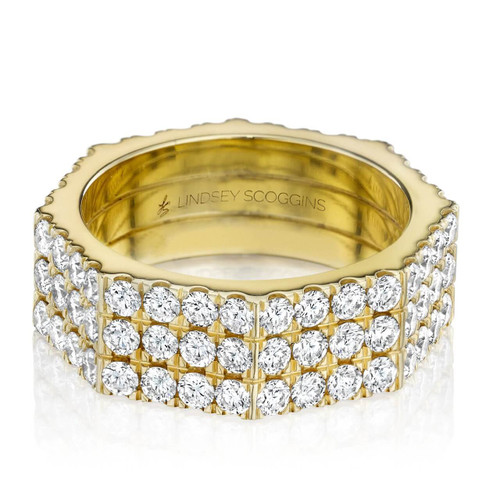 STILL THREE ROW DIAMOND PAVE BAND