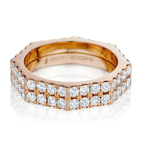 STILL TWO ROW DIAMOND PAVE BAND