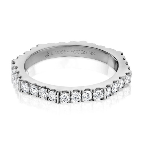 STILL ONE ROW DIAMOND PAVE BAND