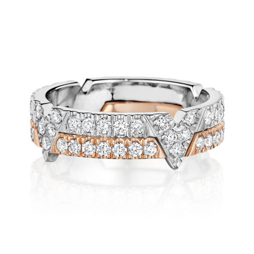 TIME V PAVE DIAMOND BAND