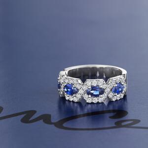 modern pave sapphire ring