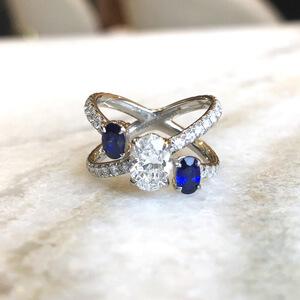 unique sapphire jewelry ring