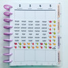 Fall Leaves Date & Day Cover Stickers for Erin Condren Vertical Planner - S497