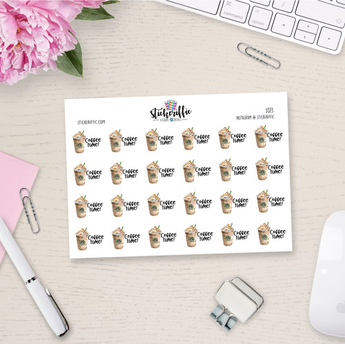 Coffee Time Planner Stickers - S073