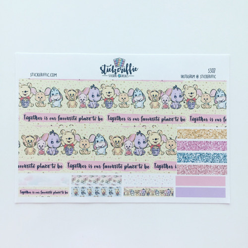 Pooh & Friends Washi Stickers - EC Bottom Cover Up - S307