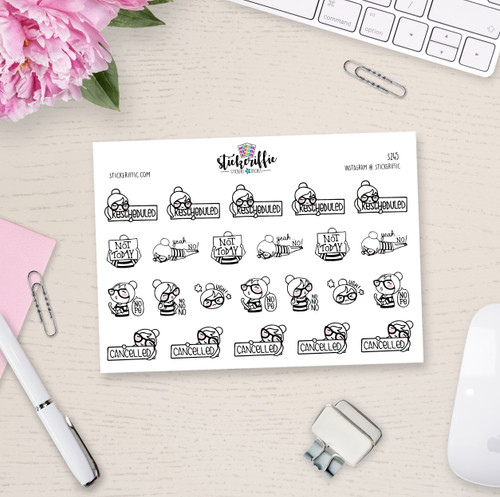Phoebe Bad Day Planner Girl Stickers - S245