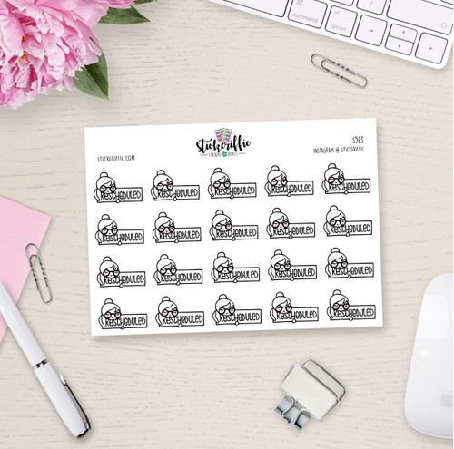 Phoebe Rescheduled Planner Stickers - S563